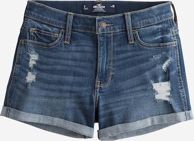 HOLLISTER Shorts 'MR 3IN DARK DESTROY DBL ROLL 1CC' in blue denim, Produktansicht