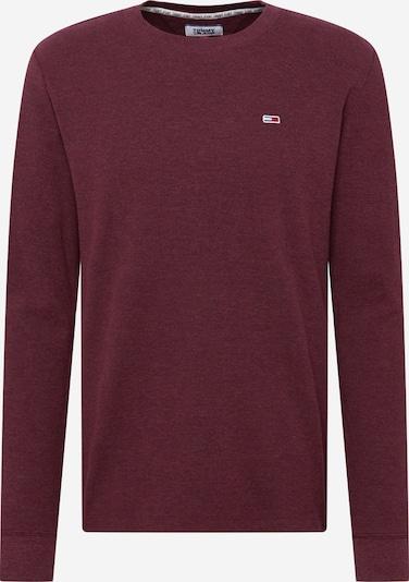 Tommy Jeans T-Shirt 'Mini Waffle' en lie de vin, Vue avec produit