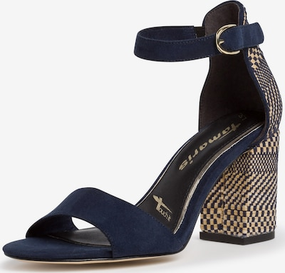 TAMARIS Sandalette in hellbeige / dunkelblau, Produktansicht