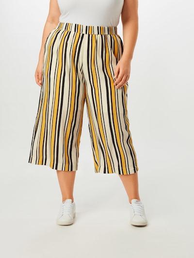 MY TRUE ME Hose in gelb / schwarz / weiß, Modelansicht
