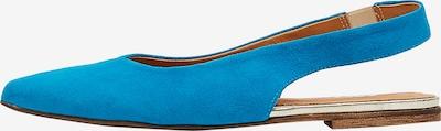 MYMO Ballerina met riempjes in de kleur Turquoise, Productweergave