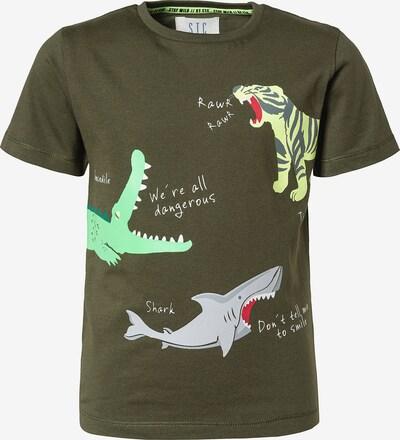 STACCATO T-Shirt in neongelb / grau / neongrün / dunkelgrün / weiß, Produktansicht
