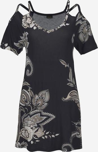 LASCANA Shirt in de kleur Beige / Zwart, Productweergave
