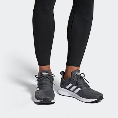 ADIDAS PERFORMANCE Laufschuh in dunkelgrau / weiß: Frontalansicht