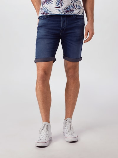 JACK & JONES Shorts 'RICK' in dunkelblau, Modelansicht