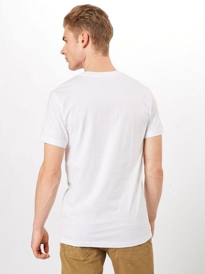 Mister Tee T-Shirt 'NASA Worm' in hellorange / weiß: Rückansicht