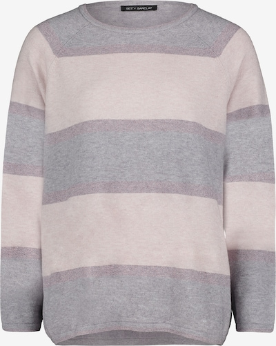 Betty Barclay Strickpullover in grau / rosa: Frontalansicht
