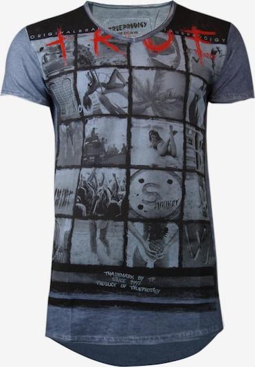 trueprodigy T-Shirt in blau: Frontalansicht
