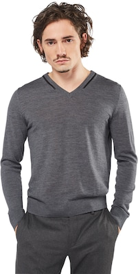 The Kooples Sweter 'V-NECK PULLOVER WITH PIPING'