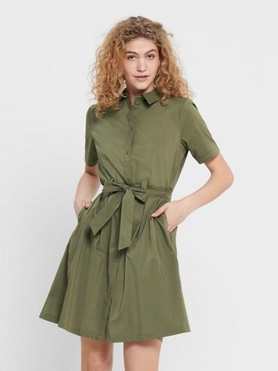 JACQUELINE de YONG Robe-chemise en olive, Vue avec modèle