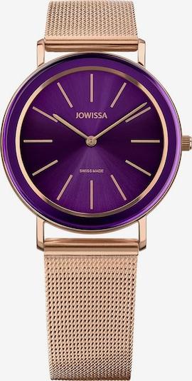 JOWISSA Quarzuhr 'Alto' Swiss Ladies Watch in rosegold / lila, Produktansicht