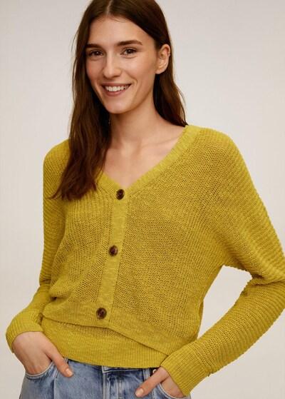 MANGO Strickjacke in gelb, Modelansicht