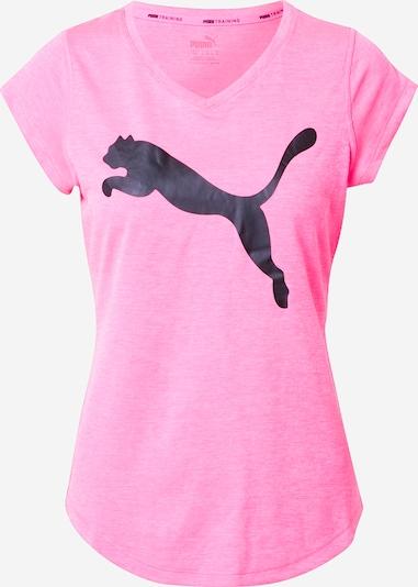 PUMA T-Shirt 'Heather Cat' in pinkmeliert / schwarz, Produktansicht