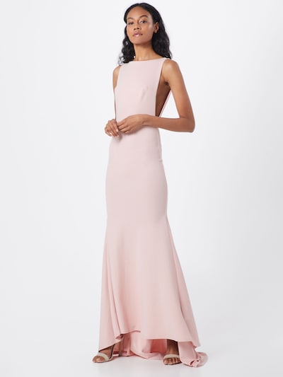 Missguided Kleid 'BRIDESMAID SLEEVELESS LOW BACK MAXI DRESS' in pink, Modelansicht