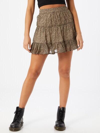 VERO MODA Spódnica w kolorze brązowy / czarnym, Podgląd na modelu(-ce)