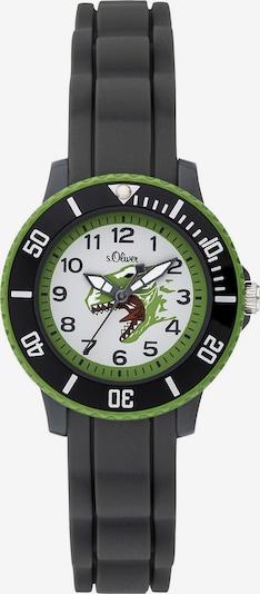 s.Oliver Uhr 'SO-3763-PQ' in dunkelgrau / hellgrün / weiß, Produktansicht