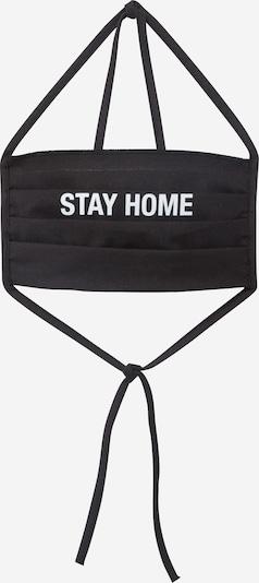 Mister Tee Stoffmaske 'Stay Home' in schwarz, Produktansicht