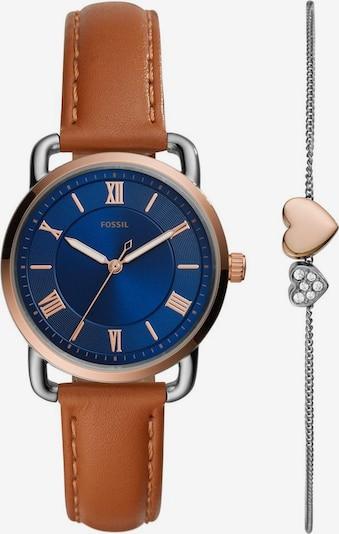 FOSSIL Analogové hodinky - modrá / hnědá / zlatá, Produkt