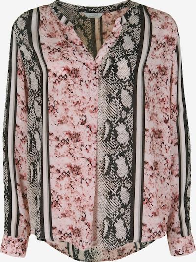 Frogbox Bluse mit Schlangen-Print in rosa, Produktansicht