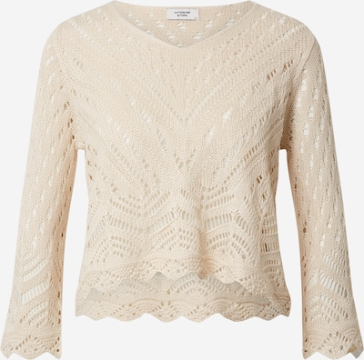 JACQUELINE de YONG Pullover 'JDYNEW SUN 3/4 CROPPED PULLOVER KNT' in sand, Produktansicht