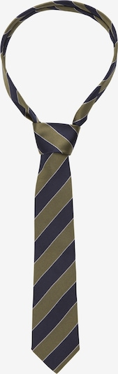 SEIDENSTICKER Cravate 'Schwarze Rose' en bleu nuit / olive / blanc, Vue avec produit