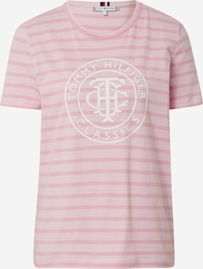TOMMY HILFIGER Shirt  'ESS RELAXED' in rosa / weiß, Produktansicht