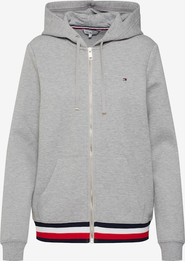 TOMMY HILFIGER Sweatjacke 'HERITAGE ZIP-THROUGH HOODIE' in graumeliert, Produktansicht