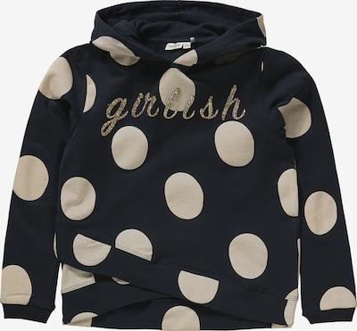 NAME IT Sweatshirt 'Tobba LS' in kobaltblau / silber / weiß, Produktansicht