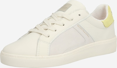 SCOTCH & SODA Sneakers laag 'Laurite Low Lace Shoes' in de kleur Geel / Wit: Vooraanzicht