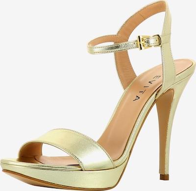 EVITA Damen Sandalette in gold: Frontalansicht
