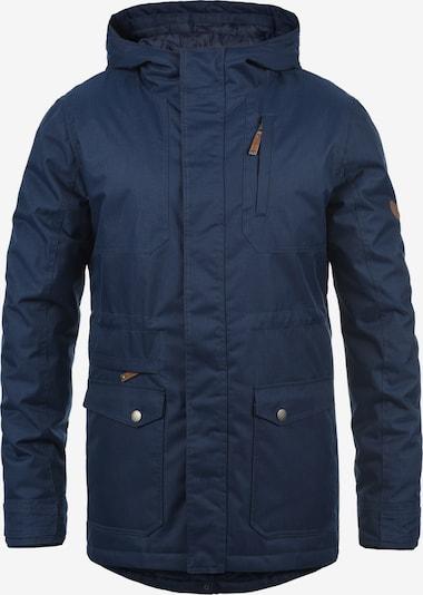 !Solid Winterjacke 'Bello Long' in dunkelblau: Frontalansicht