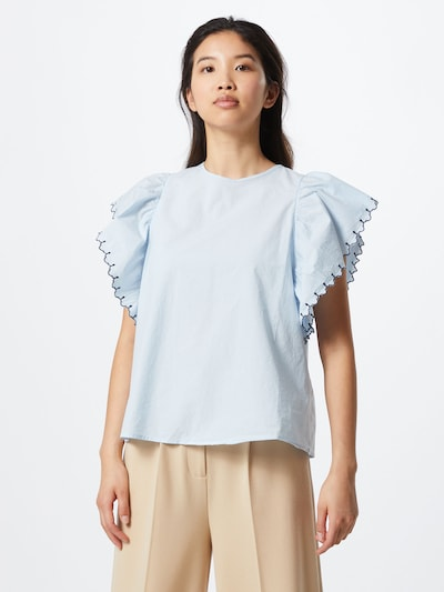 VERO MODA Shirt 'VMLACI SL TOP VMA' in de kleur Blauw / Lichtblauw: Vooraanzicht