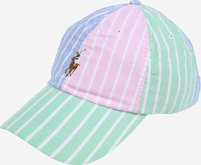 POLO RALPH LAUREN Casquette 'CLASSIC SPORT CAP W/ SMALL PP' en bleu clair / vert clair / rose, Vue avec produit