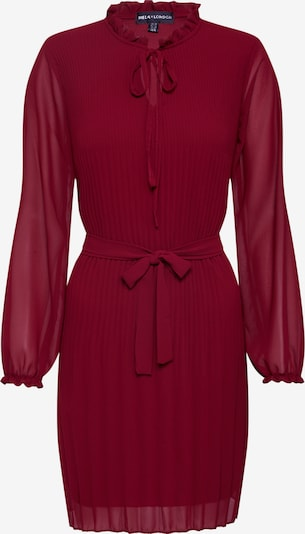 Mela London Šaty 'LONG SLEEVE PLEATED BELTED DRESS' - červené, Produkt