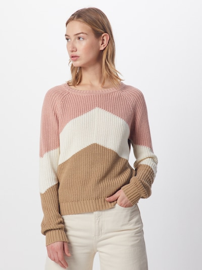 OBJECT Pullover 'OBJGRAPH' in beige / rosa / weiß, Modelansicht