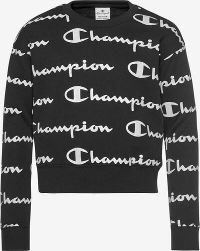 Champion Authentic Athletic Apparel Sweatshirt 'Crewneck' in schwarz / weiß, Produktansicht