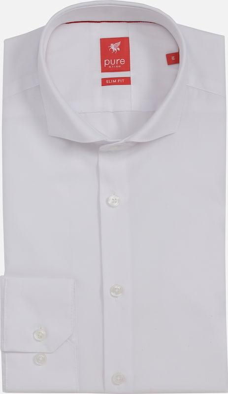 Pure Langarm-hemd City Red Slim Fit