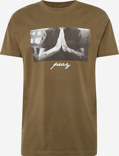 Mister Tee T-Shirt 'Pray Tee black' in oliv: Frontalansicht