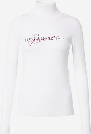 GUESS Pullover 'Marta' in weinrot / schwarz / weiß, Produktansicht