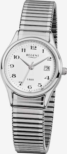 REGENT Uhr in schwarz / silber / weiß, Produktansicht