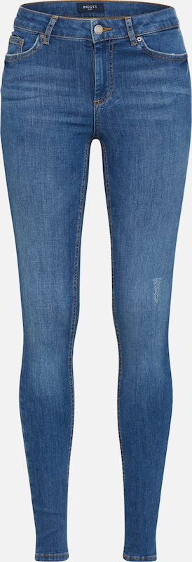 PIECES Skinny Jeans 'PCFIVE DELLY B181' in blue denim, Produktansicht