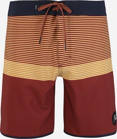 QUIKSILVER Shorts de bain 'Highline Tijuana' en beige / bleu marine / rouille, Vue avec produit