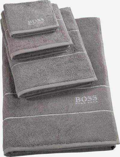 BOSS Home Waschhandschuh 'Plain' in grau, Produktansicht