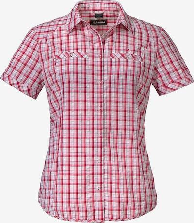 Schöffel Hemd in dunkelpink / weiß: Frontalansicht