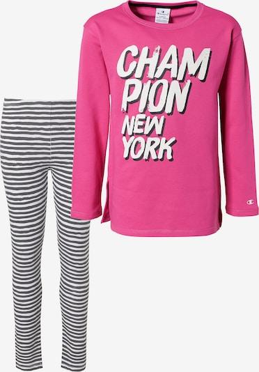Champion Authentic Athletic Apparel Set in pink / schwarz / weiß, Produktansicht