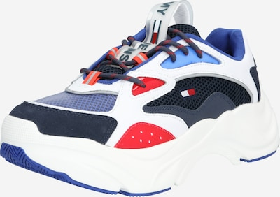 Tommy Jeans Sneakers laag 'FASHION CHUNKY RUNNER' in de kleur Donkerblauw / Rood / Wit, Productweergave