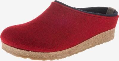 HAFLINGER Pantoffeln 'Grizzly Kris' in marine / rot, Produktansicht