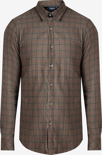 Finn Flare Hemd in khaki / mischfarben, Produktansicht