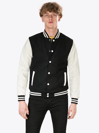 Demisezoninė striukė 'Oldschool College Jacket' iš Urban Classics , spalva - juoda, Modelio vaizdas