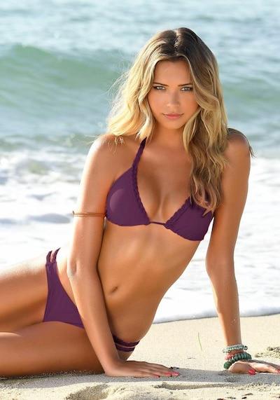 BUFFALO Bikini en bordeaux, Vue avec modèle